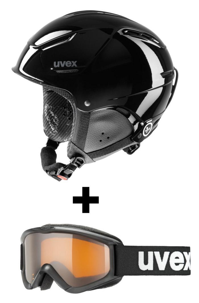 UVEX P1US JUNIOR Black + UVEX SPEEDY PRO 52-55 cm